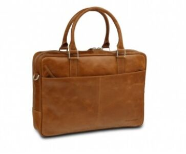"Leather business bag Rosenborg up to 16"""" - Golden tan"